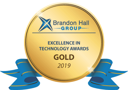 Gold Award for Brandon Hall's Excellence in Learning Management Technology 2019