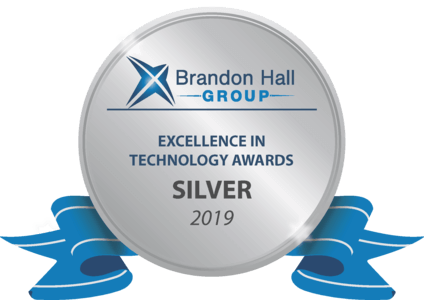 Silver Award for Brandon Hall's Excellence in Learning Management Technology for Small to Medium Sized Businesses 2019