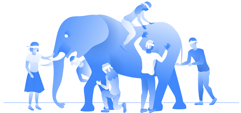Lean six sigma analyzing process with elephant