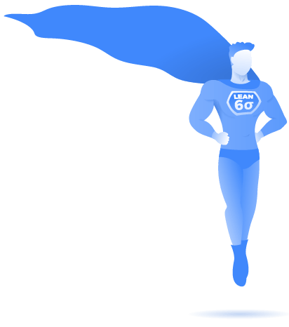 Lean six sigma personal benefits superhero