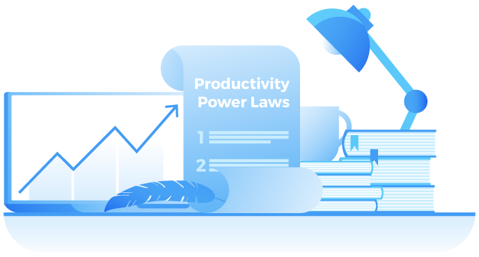 Productivity Power Laws