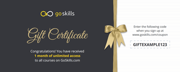 An example gift certificate.