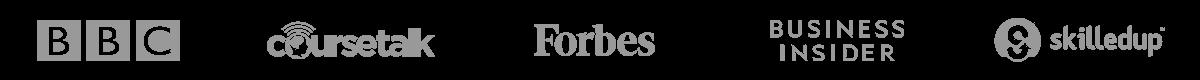 BBC, Coursetalk, Forbes, Business Insider, Skilledup.