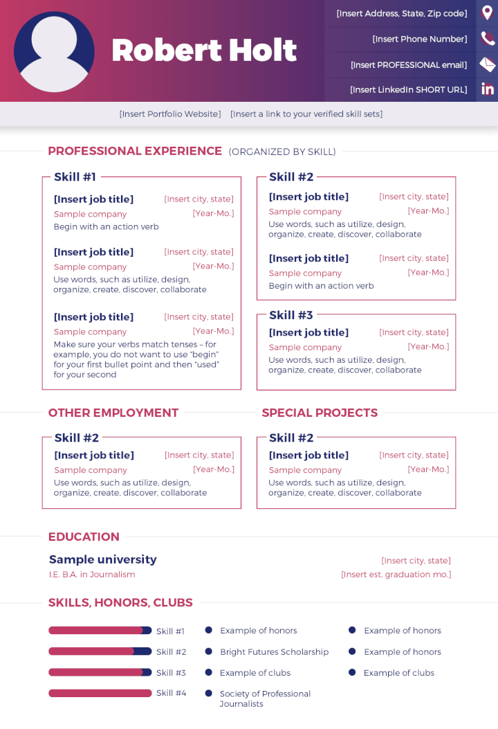 Free PSD Resume Templates5
