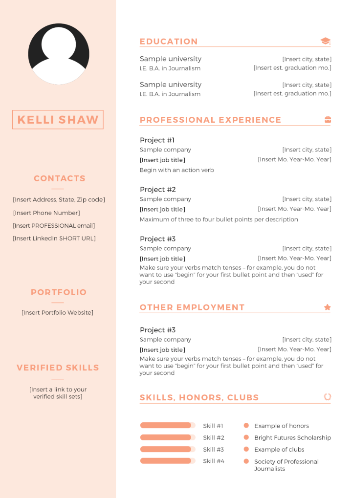 Free PSD Resume Templates 6