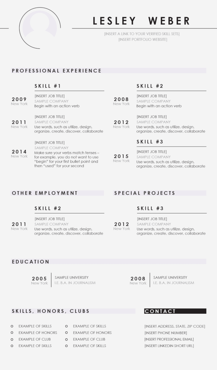Free PSD Resume Templates 4