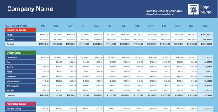 business-budget-expense-template