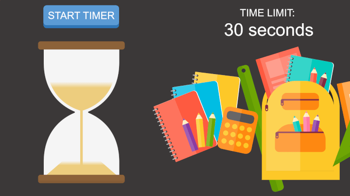 Classroom timer PowerPoint template