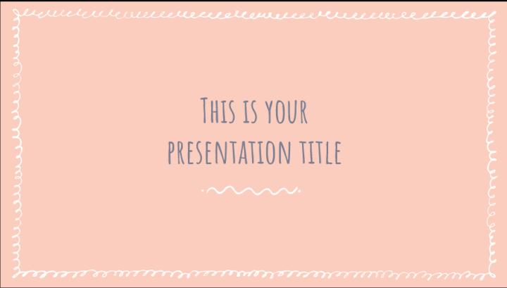 Feminine flair PowerPoint template