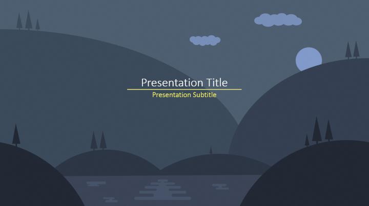 Dark nature PowerPoint template