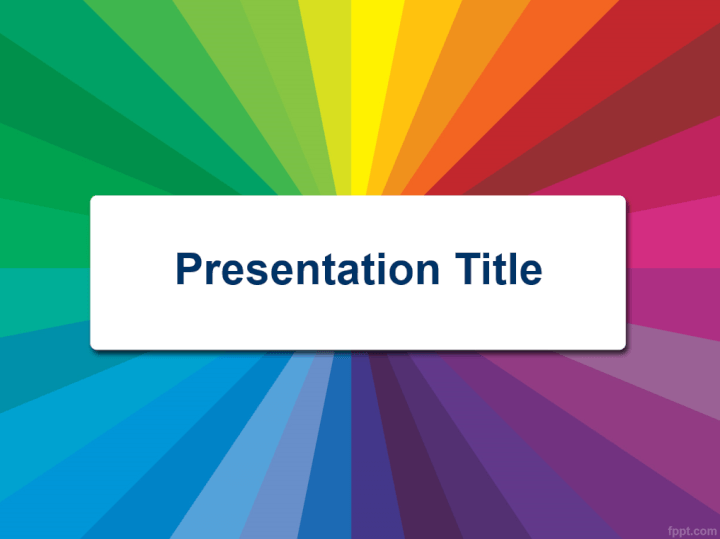 Color radial PowerPoint template