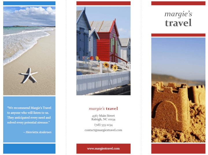 travel brochure powerpoint template - Powerpoint Brochure Templates