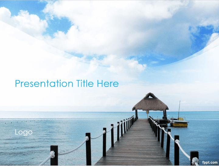 Island destination PowerPoint template