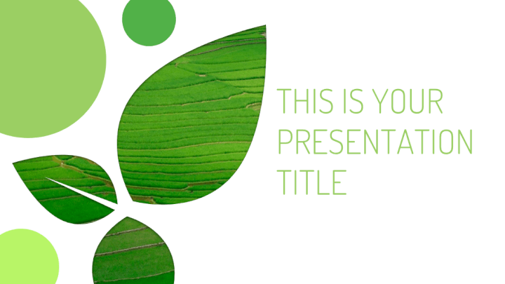 Eco-friendly PowerPoint template