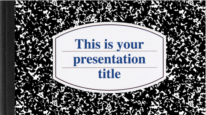 Notebook PowerPoint template
