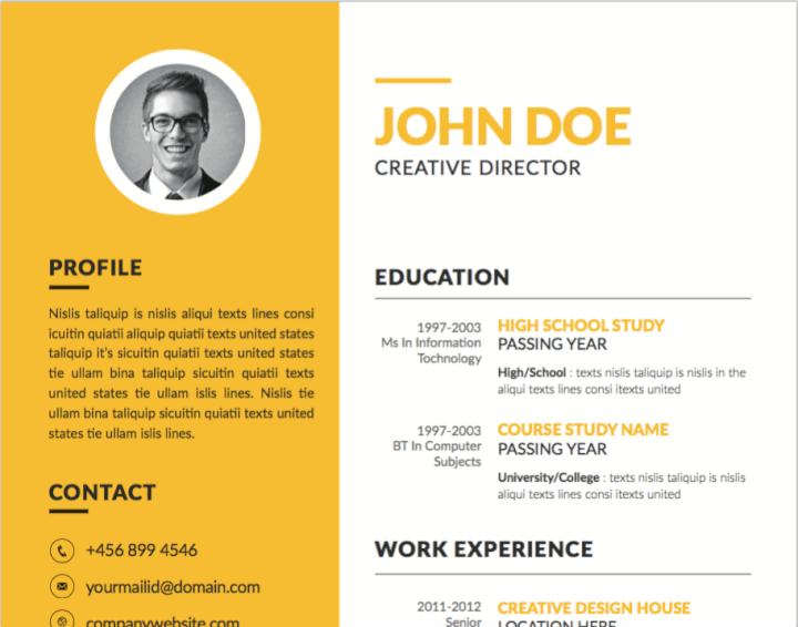 30 Best Free Illustrator Resume Templates In 2019