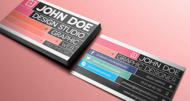 free-business-card-template-colour-contrast