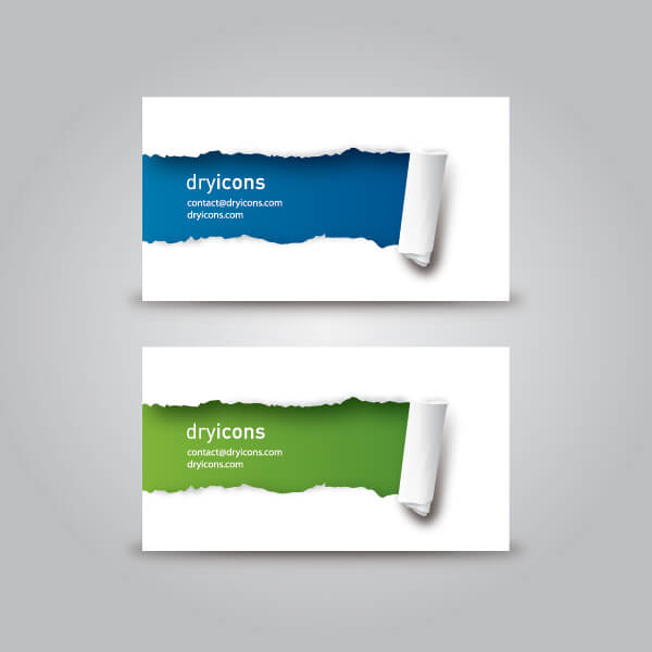 free-business-card-template-ripped