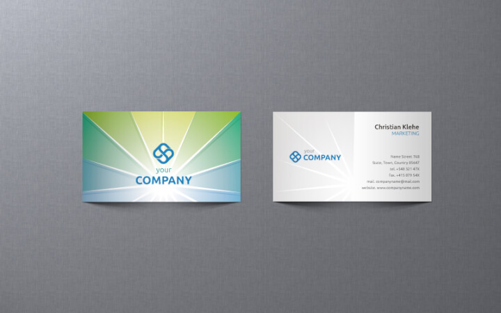 free-business-card-template-green-sunburst