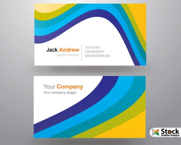 free-business-card-template-colour-wave