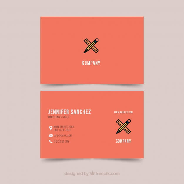 free-business-card-template-orange