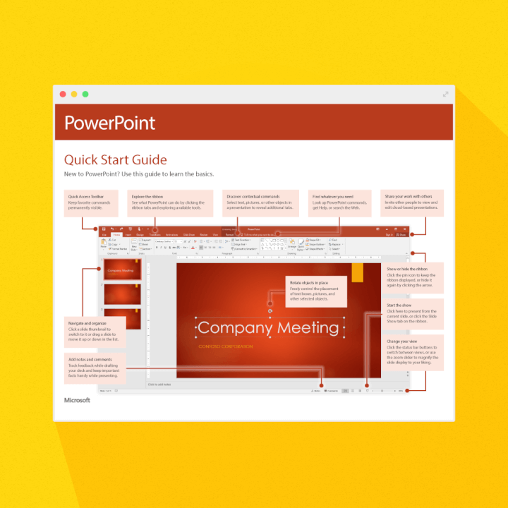 PowerPoint quick start guide