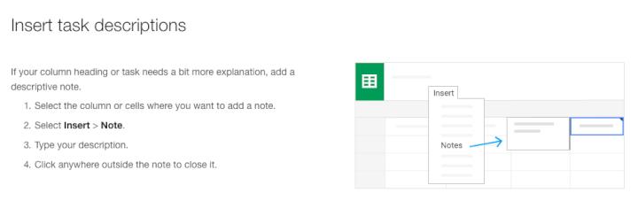 Project-management-template-Google-Sheets-task-descriptions