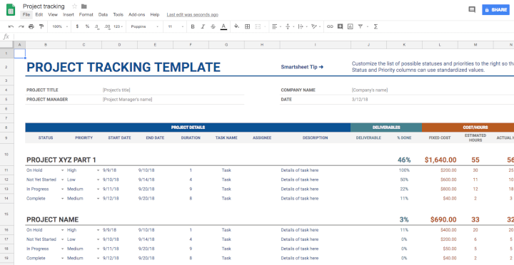 Project-management-template-Google-Sheets-project-tracking