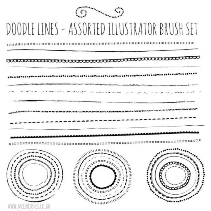 Illustrator-brushes-doodle
