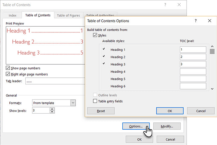 Create-table-of-contents-Word