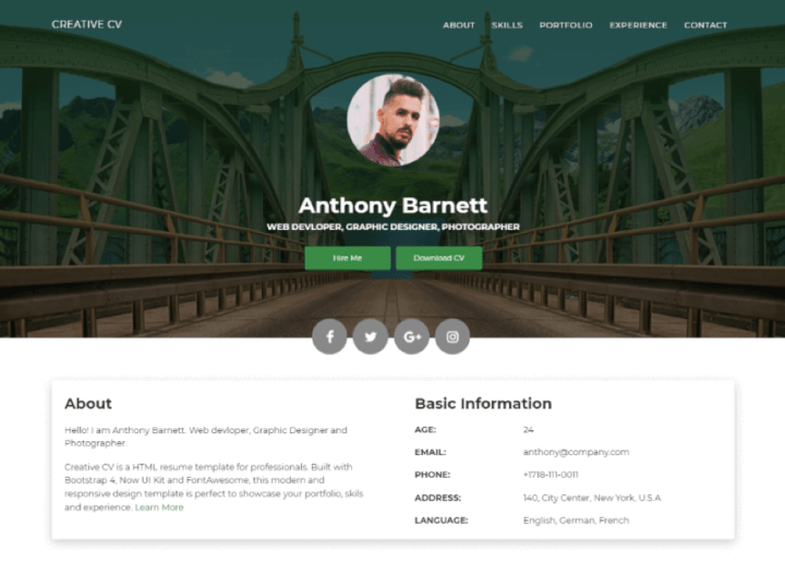 Free-html-resume-templates