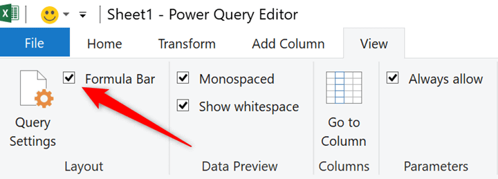 Power-Query-editor-formula-bar