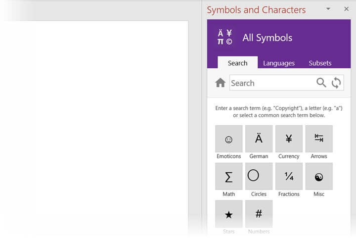microsoft-office-add-ins-symbols-characters