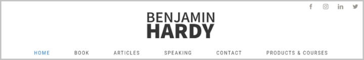 ​Best Productivity Blogs - Benjamin Hardy