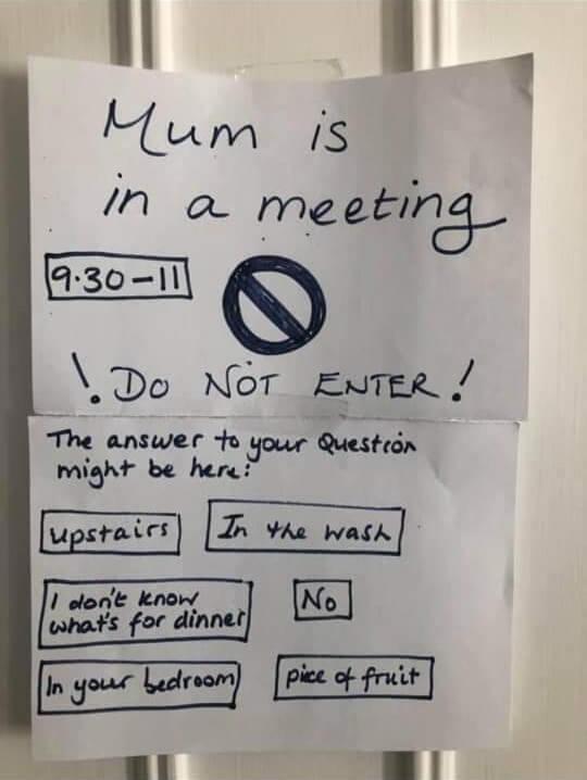 mum is in a meeting meme