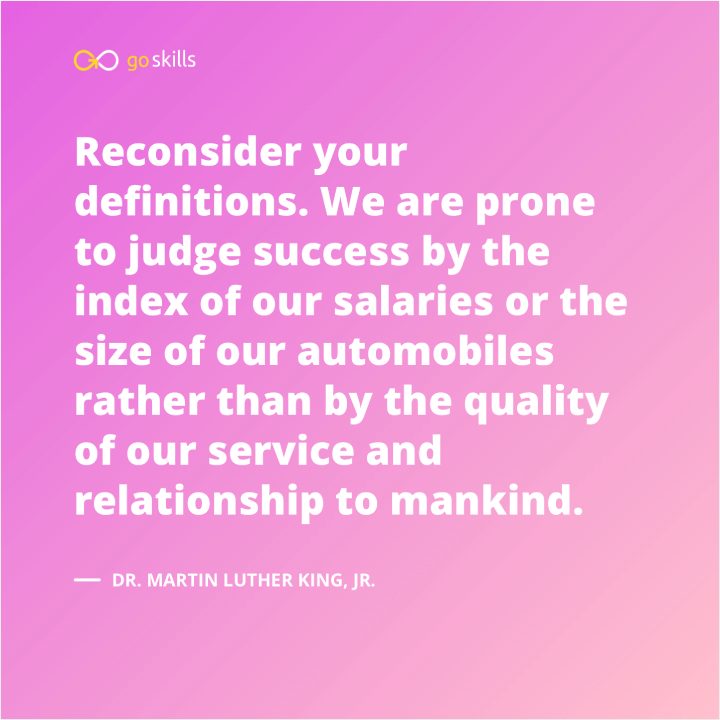 We are prone to judge success by the index of our salaries or the size of our automobiles rather than by the quality of our service and relationship to mankind.