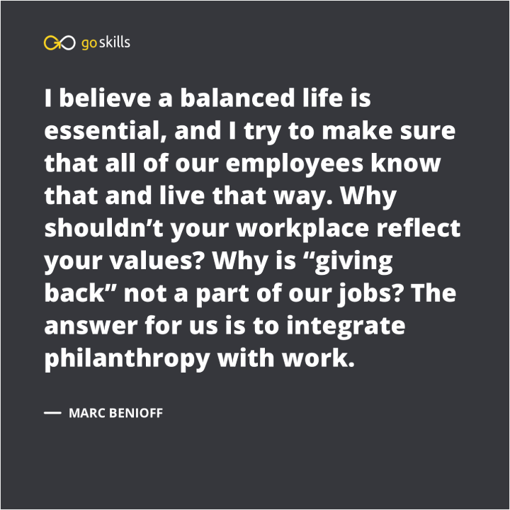 Why shouldn't your workplace reflect your values? Why is 'giving back' not a part of our jobs? The answer for us is to integrate philanthropy with work.