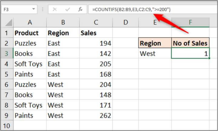 Excel countifs-not-working