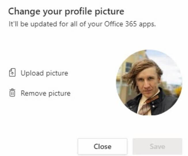 Microsoft Teams - change your profile picture