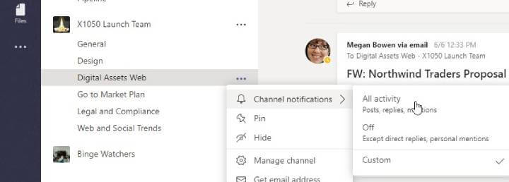 Microsoft Teams - Channel Notifications