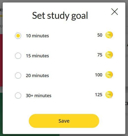 GoSkills gamification set study goals