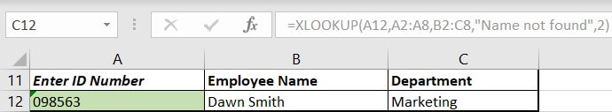 xlookup formula greyed out
