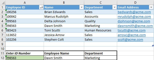 xlookup multiple values