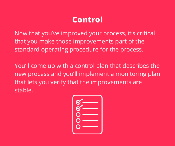 DMAIC - Control