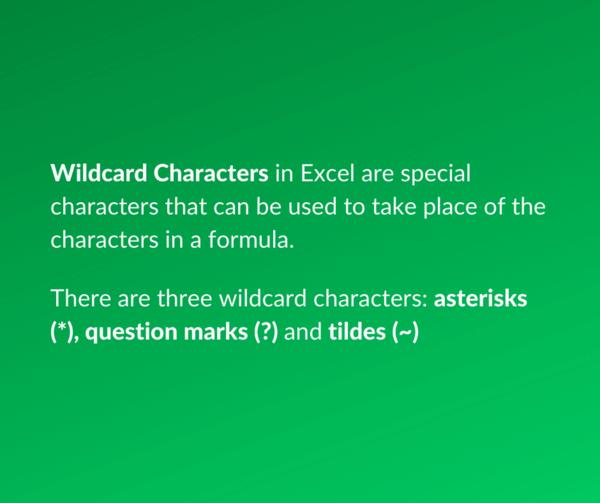 Wildcard characters