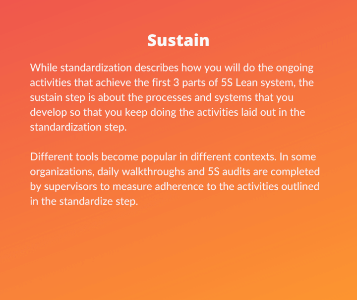 Lean Six Sigma 5S - Sustain