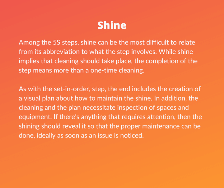 Lean Six Sigma 5S - Shine