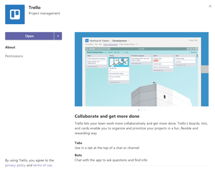 Microsoft Teams Integration - Trello