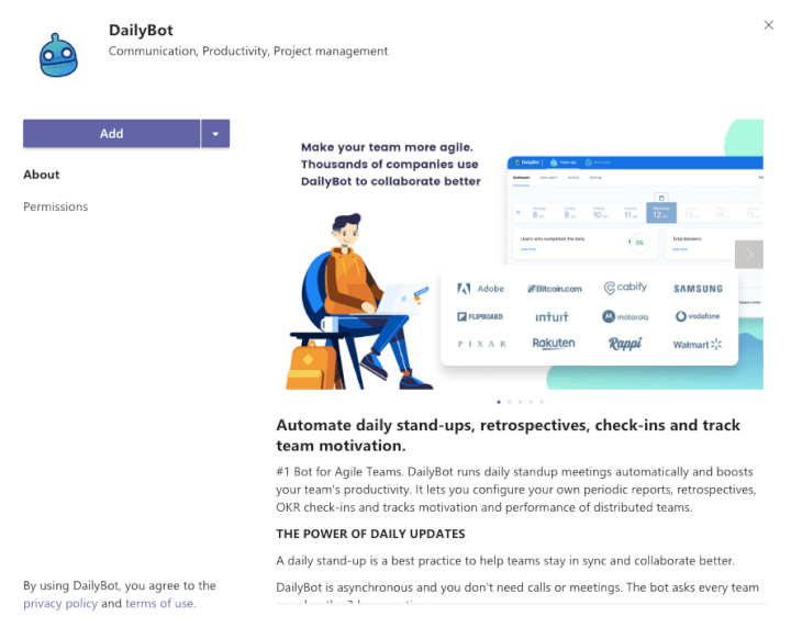 Microsoft Teams Integration - DailyBot