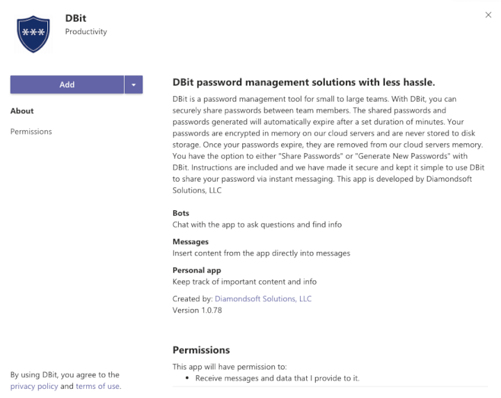 Microsoft Teams Integration - DBit